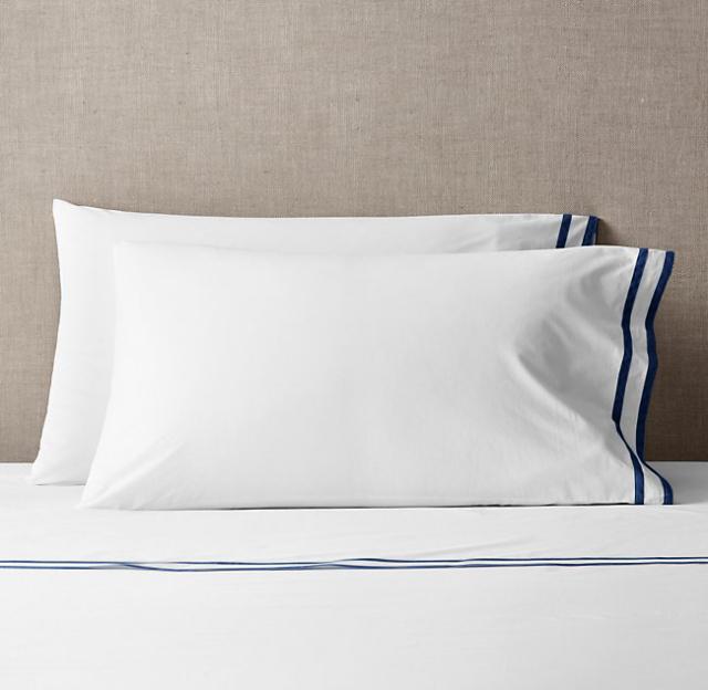 フラットシーツ1枚 封筒型スタンダード枕カバー2枚 / クイーン・キング / 400TC ホテル(10月下旬順次発送)