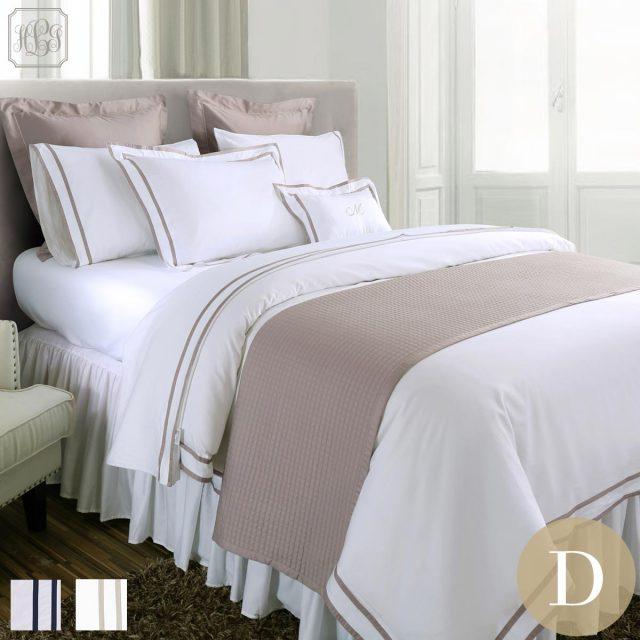 フラットシーツ1枚 封筒型スタンダード枕カバー2枚 / ダブル / 400TC ホテル