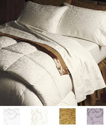フラットシーツ1枚 封筒型スタンダード枕カバー2枚 | シングル | 400TC ジャガード
