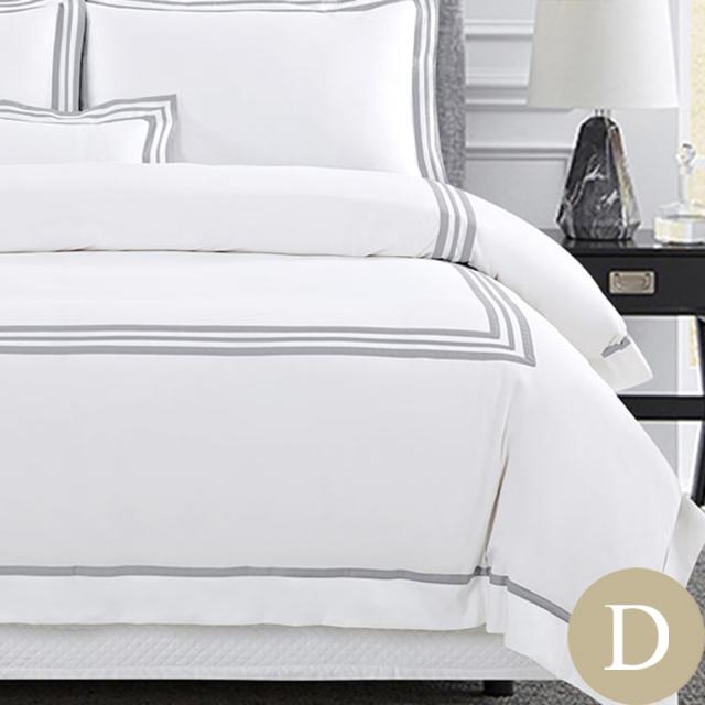 [Renewal]ダブル | 190×210cm | 掛け布団カバー1枚 | 包み型スタンダード枕カバー2枚 | 500TC ボールドライン