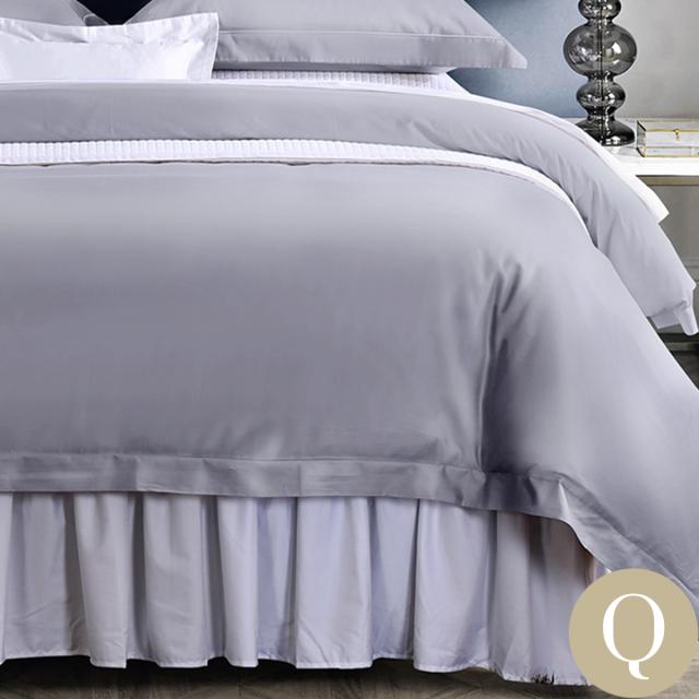 [Renewal]クイーン | 210×210cm | 掛け布団カバー1枚 | 包み型スタンダード枕カバー2枚 | 500TC コットンサテンリュクス