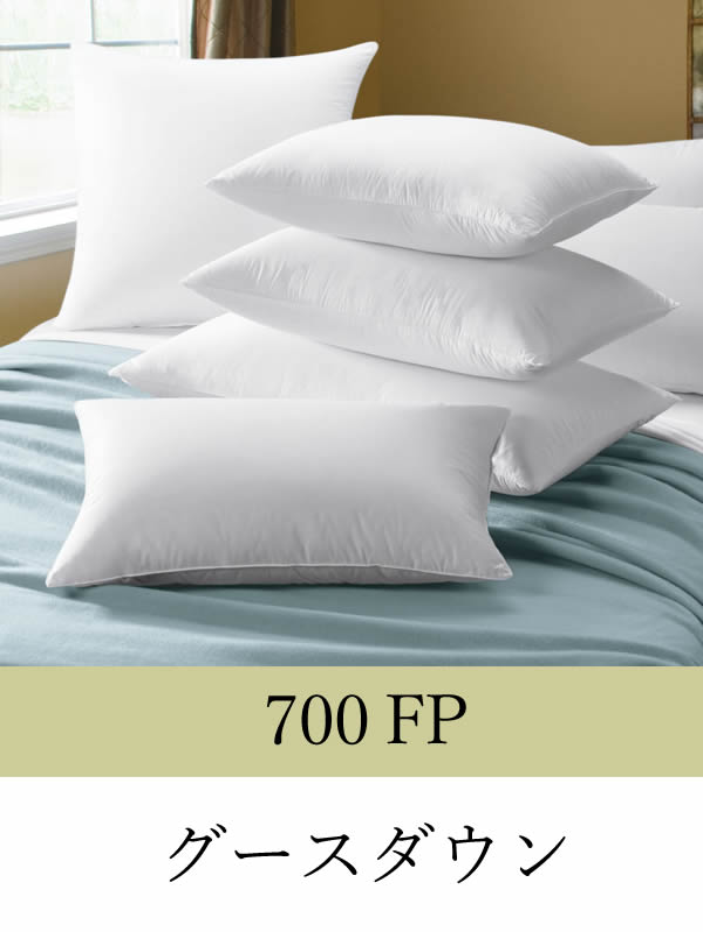700FP ハンガリー産ホワイトグースダウンピロー
