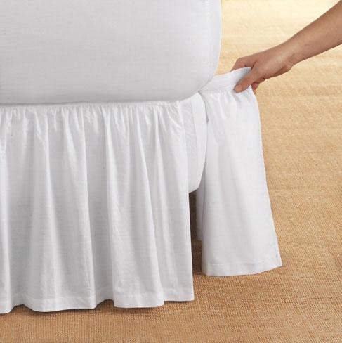ベッドスカート  | ワイドダブル | 155x200cm | 高さ35cm | 平日15時まで・即日配送 | デタッチャブル ベッドスカート