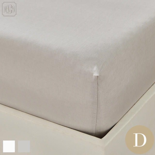 ボックスシーツ  | ダブル | 140×200cm | 高さ40cm | フレンチリネン