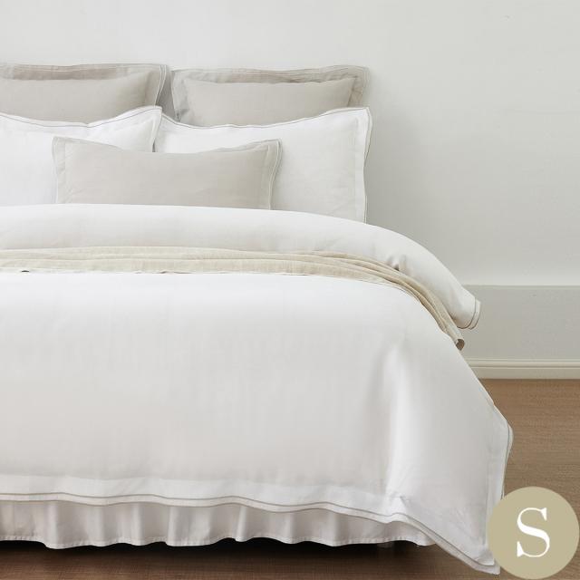 シングル | 150×210cm | 掛け布団カバー1枚 | 包み型スタンダード枕カバー2枚 | フレンチリネン トリム