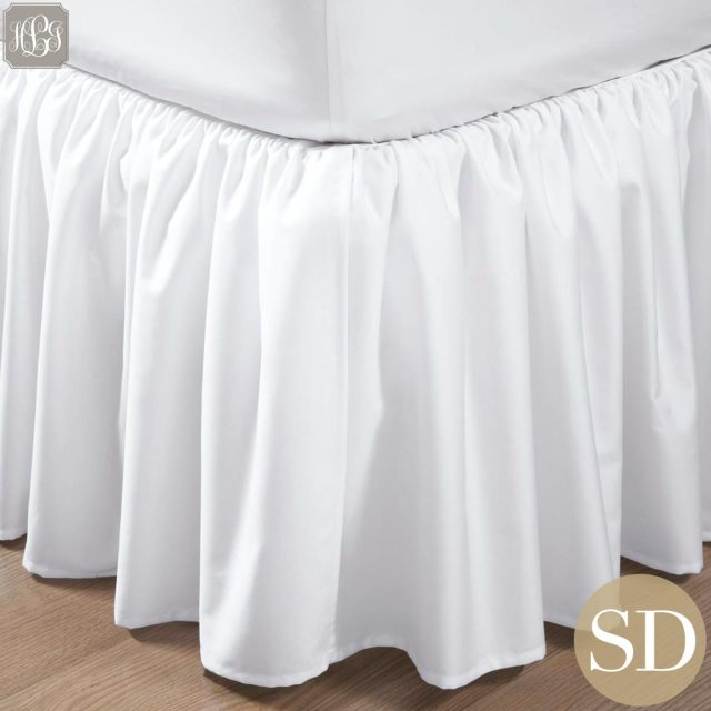 ベッドスカート | セミダブル | 120cm x200cm | 高さ25cm | 400TC ギャザードベッドスカート |