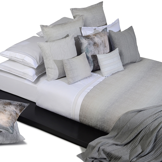 ボックスシーツ1枚 / 掛け布団カバー1枚 / 封筒型スタンダード枕カバー2枚 /Home Concept(ホームコンセプト) / グレイベイ
