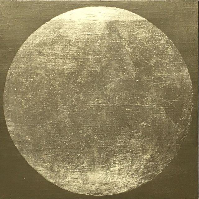 金の月 | 33×33cm