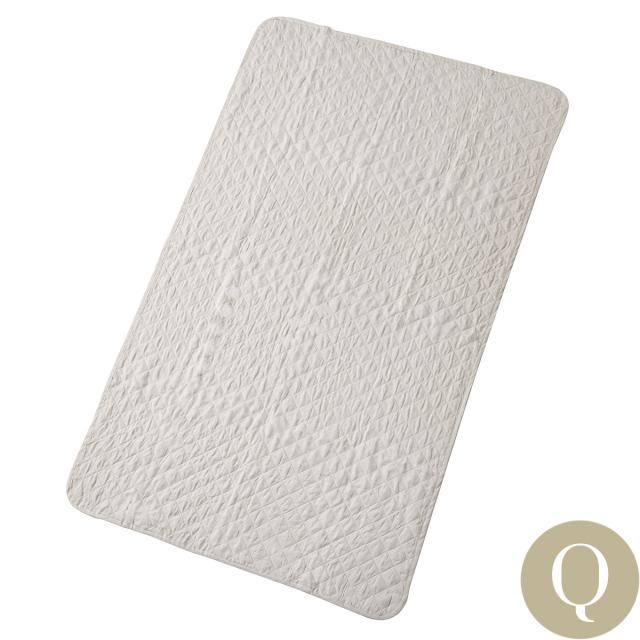 洗えるリネン敷パッド | クイーン | 160x205cm  リネン(麻)100%