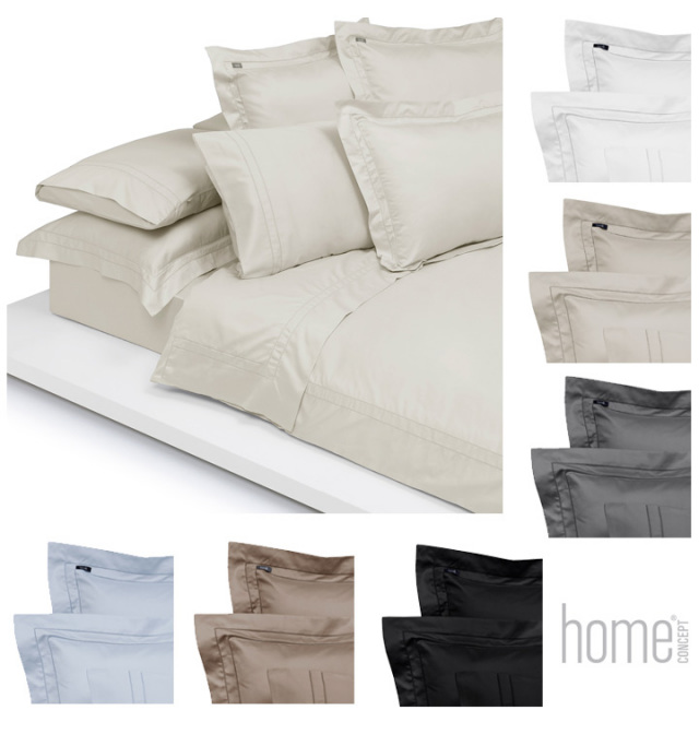 【刺繍不可】ピローケース / 封筒型スタンダード・クイーン / 50×75cm / Home Concept(ホームコンセプト) / サテンベーシック