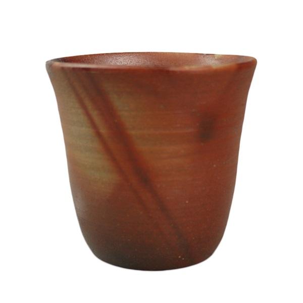 【備前焼】フリーカップ(口開きタイプ) 火襷×火襷