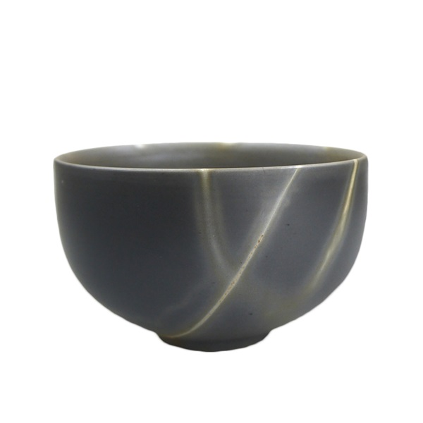 【備前焼】抹茶茶碗(ぽってりタイプ) 青備前×青備前