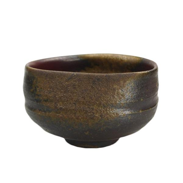 【備前焼】抹茶茶碗(くぼみタイプ) 胡麻×胡麻