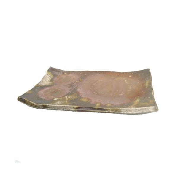 【備前焼】お皿(平皿長方形タイプ) 桟切×牡丹餅