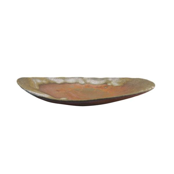 【備前焼】お皿(平皿丸タイプ) 桟切×牡丹餅