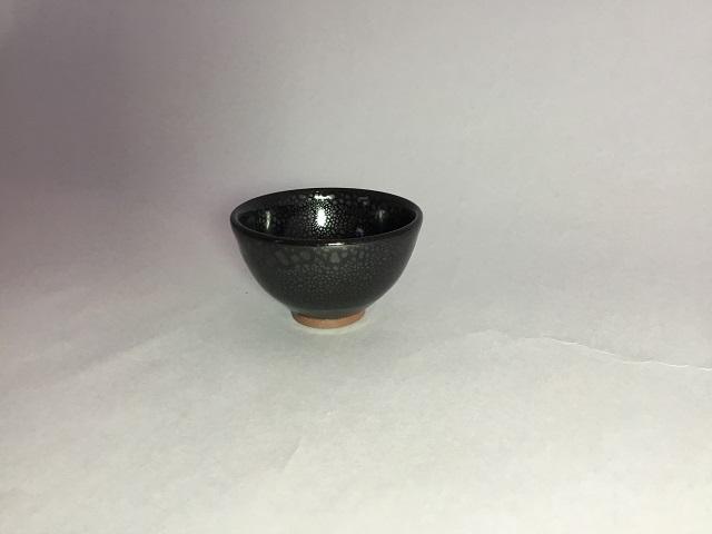 新庄東山焼 油滴ぐい呑み(桐箱付き) 贈り物