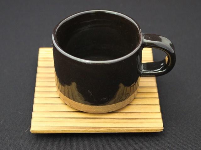 新庄東山焼 カップセット 木製コースター付き