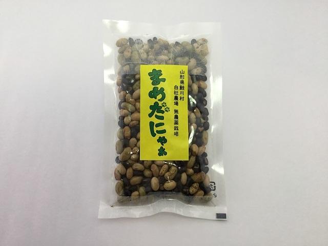 まめだにゃぁ(素煎り大豆) 100g 山形県鮭川村産