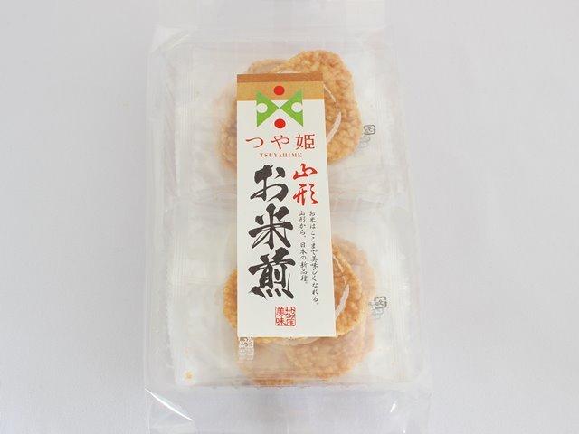 つや姫お米煎餅 山形 地産美味 8枚入  長登屋