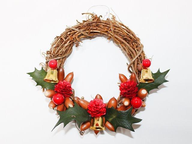 クリスマスリースキット ベル付き クリスマス用リース工作キット もがみ体験館