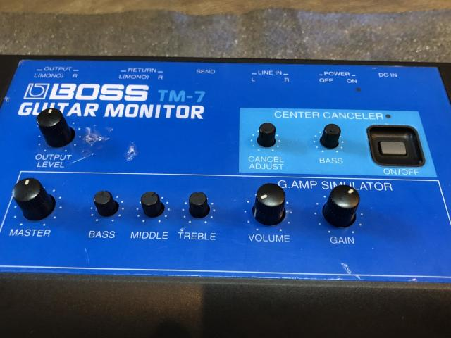 BOSS TM-7 GUITAR MONITOR