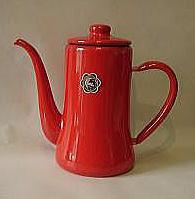 おしゃれで人気の月兔印のコーヒーポット1.2リットル(赤)