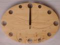 手作り木製電波掛け時計 ヒノキ