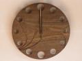 手作り木製電波掛け時計 ニレ