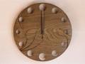 手作り木製電波掛け時計 神代ニレ
