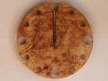 手作り木製電波掛け時計 かば