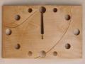手作り木製電波掛け時計 かえで