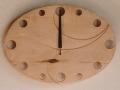手作り木製電波掛け時計 カエデ