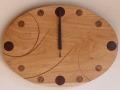 手作り木製電波掛け時計 くるみ