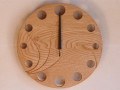 手作り木製電波掛け時計 くり