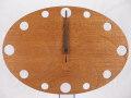 手作り木製電波掛け時計 ラワン