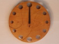 手作り木製電波掛け時計 さくら