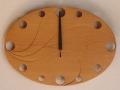 手作り木製電波掛け時計 さわら
