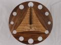 手作り木製電波掛け時計 ウォールナット  タモ