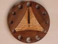 手作り木製電波掛け時計 タモ ウォールナット