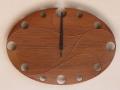 手作り木製電波掛け時計 チーク 0002