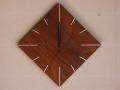 手作り木製電波掛け時計 チーク