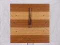 手作り木製電波掛け時計 チーク タモ