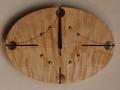手作り木製電波掛け時計 とち 0010