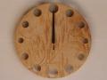 手作り木製電波掛け時計  トチ