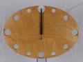 手作り木製電波掛け時計 とち