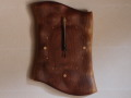 手作り木製電波掛け時計 ブラックウォールナット