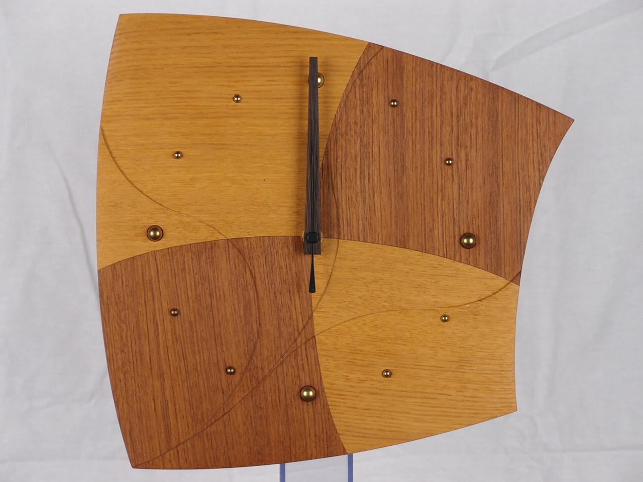 手作り木製電波掛け時計 クッキー