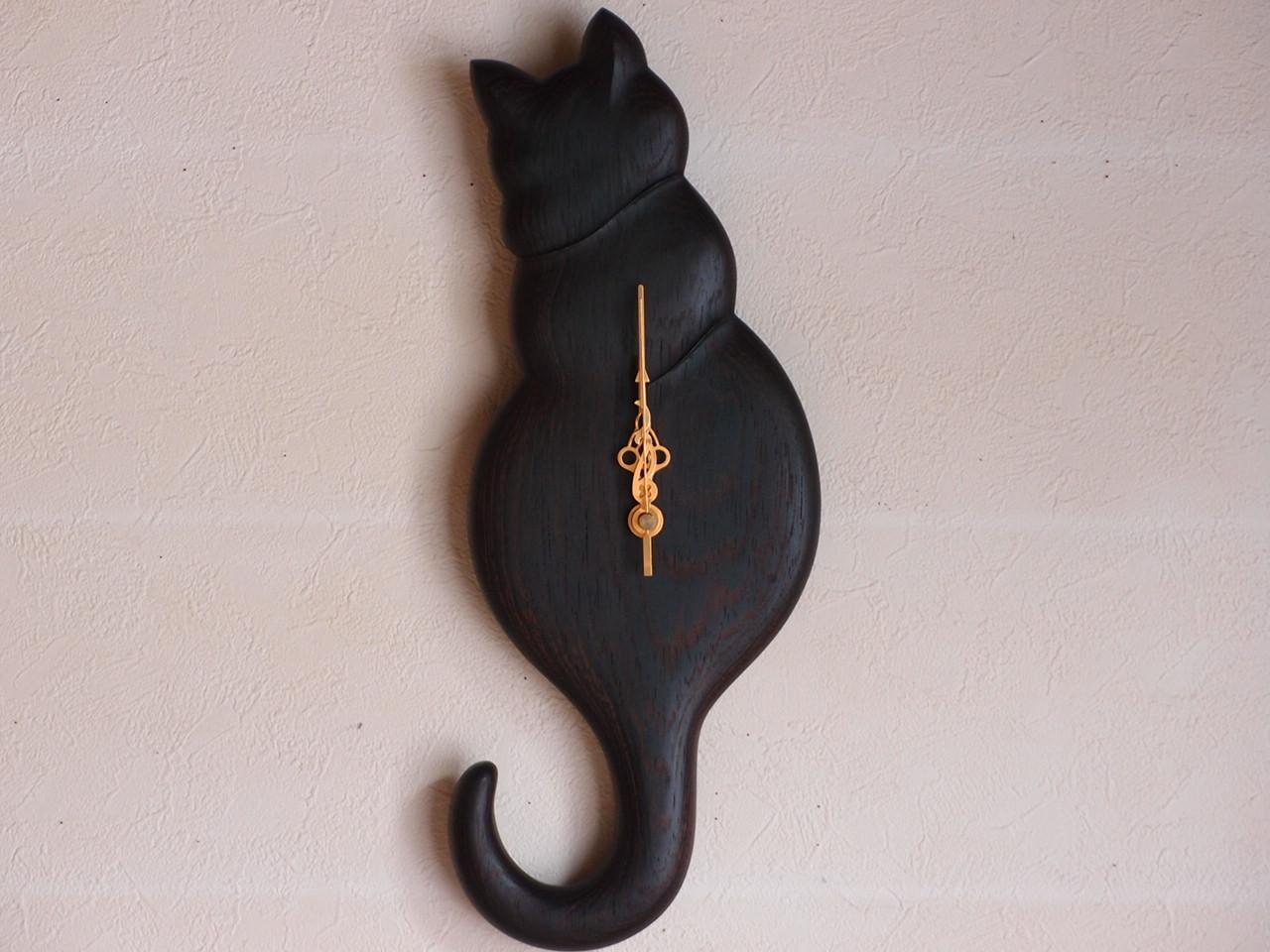 手作り木製電波掛け時計 ウエンジ