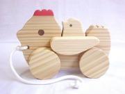 木のおもちゃ知育玩具、組立てコッコちゃんJJ