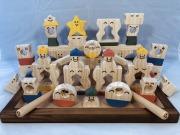 木のおもちゃ知育玩具、コロポコ積木パズル(スペシャル)